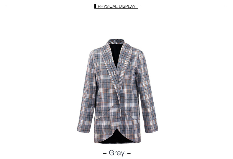 women's small suit autumn and winter new plaid top coat NSKA2148