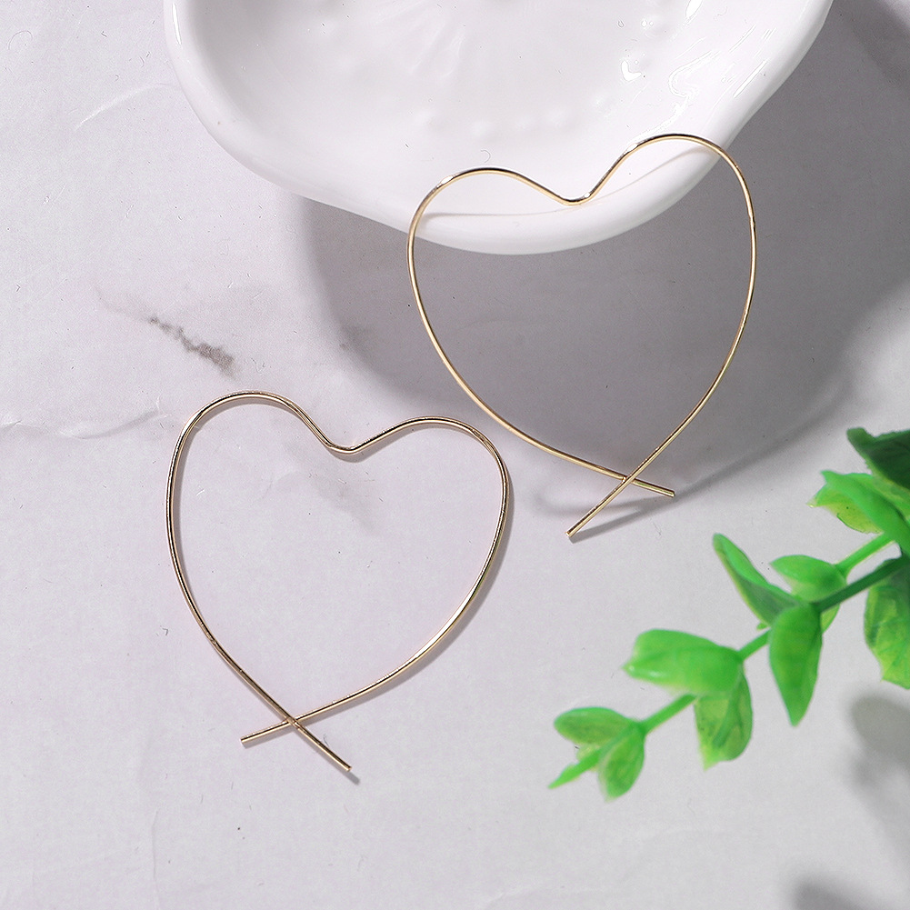 Alloy Heart Earrings Modified Face Earrings Wild Jewelry Accessories Wholesale NHJQ185868