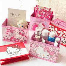 桌面收纳盒PU折叠收纳盒芝麻街桌面置物盒卡通可爱美乐迪杂物盒子