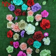 手工泡沫纸花PE手感立体玫瑰假花影楼道具橱窗展示会场布置墙纸花