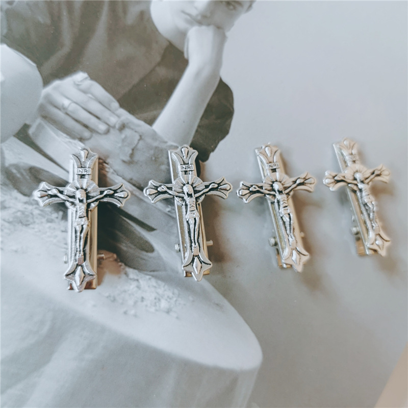 Womens Cross Plating Alloy Hair Accessories NHYQ156455