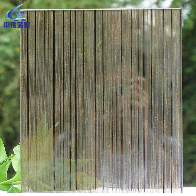 山東廠家 夾絲玻璃 鋼化隔斷屏風移門用 淋浴玻璃房定制