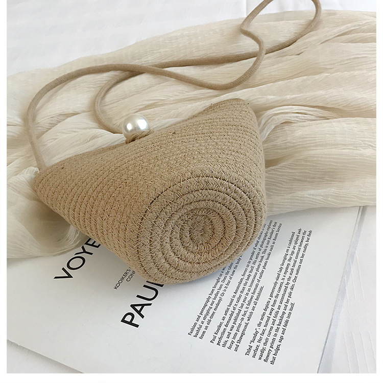 Summer new straw bag Korean fashion woven shoulder Messenger bag vacation beach handbag NHGA200669