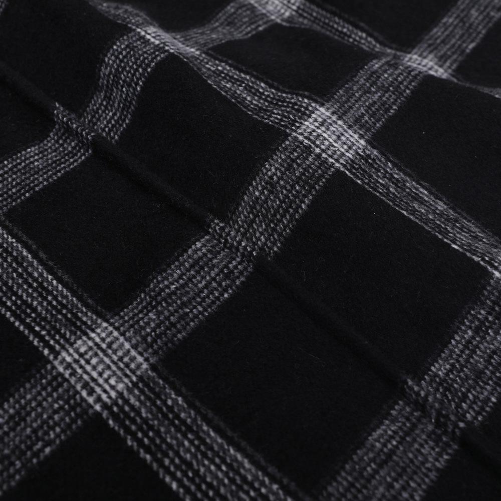 Stylish minimalist plaid shaved coat NHDF145425