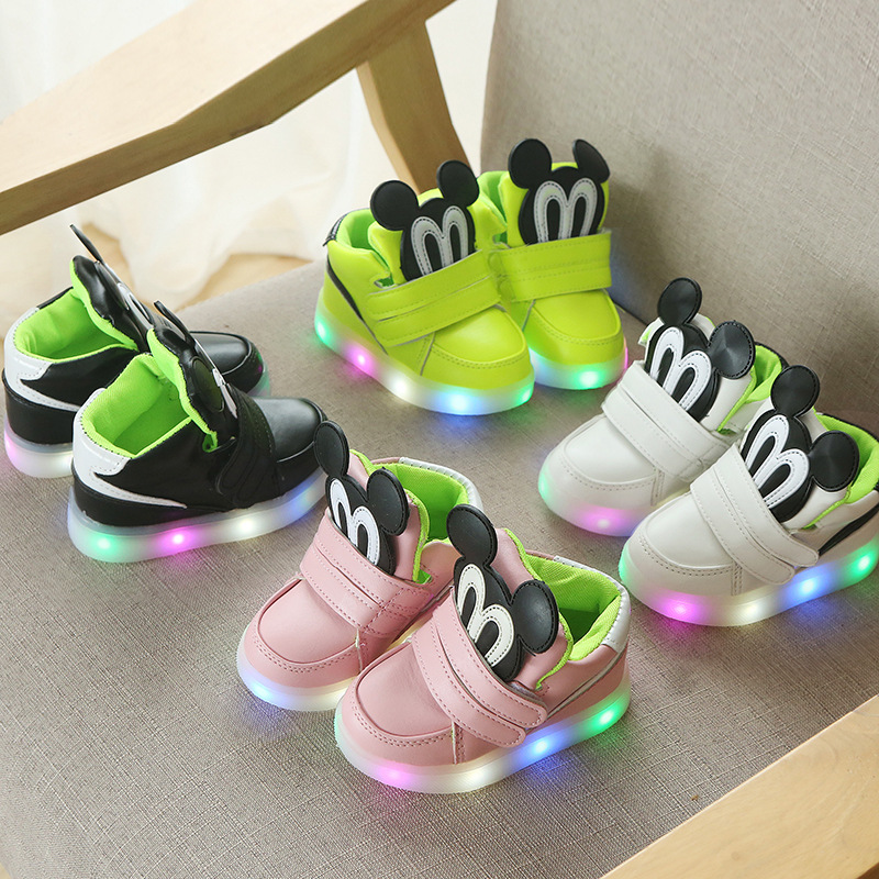 LED Fashion Cartoon Glowing Children's Shoes Boys Girls Casual Shoes
