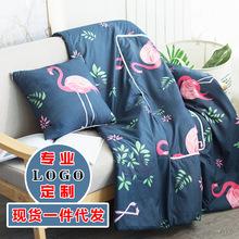 廠家直銷抱枕被子兩用辦公室午睡毯沙發汽車靠墊空調夏被LOGO定制