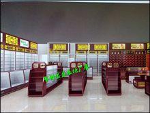 淮安連鎖中醫館設計裝修,展示柜定制,蟲草柜生產定制