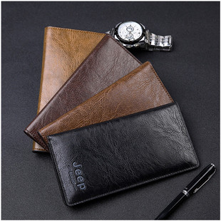 New style men's wallet, long youth, Japanese and Korean men's wallet, factory direct multi-card bag retro gift wallet