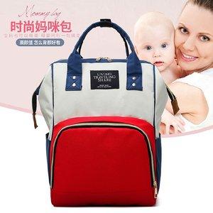工厂妈咪包大容量多功能时尚双肩母婴包防水产妇奶瓶尿片背包批发