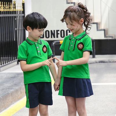 夏装幼儿园园服小学生校服班服短袖毕业服拍照夏季套装英伦风透气