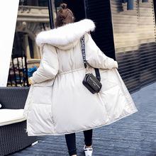 反季清仓特价米色羽绒服女中长款学生2019韩版收腰显瘦时尚外套潮