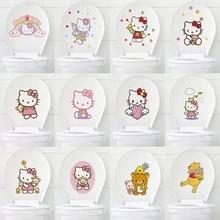 可愛卡通創意衛生間馬桶貼紙韓版可移除墻面裝飾貼門柜子貼畫貼紙
