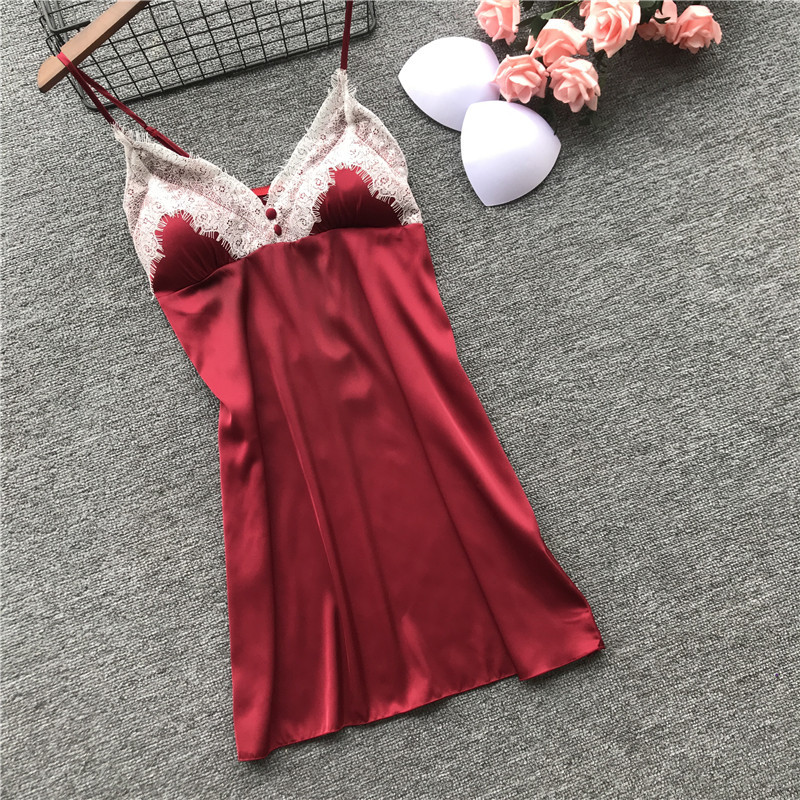 Women's Sexy Spring and summer dress with breast pad