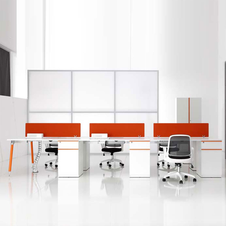 沈阳职员办公桌简约现代办公家具4人6人位屏风桌椅组合卡座电脑桌