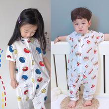 【特價】XF 2層純棉紗布睡袋分腿防踢被兒童家居服 一件代發