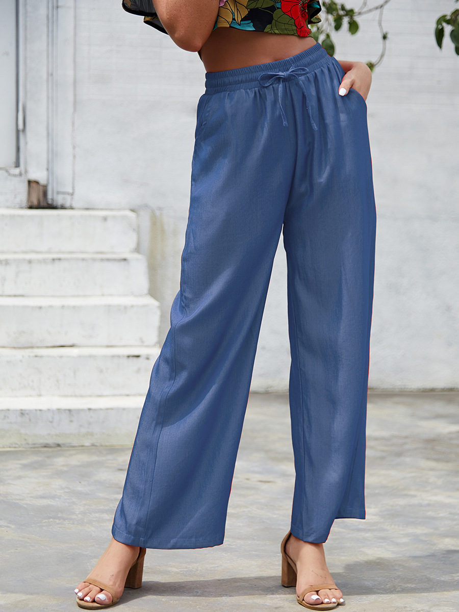 autumn and winter new tie casual trousers fashion loose tie pants NSAL3519