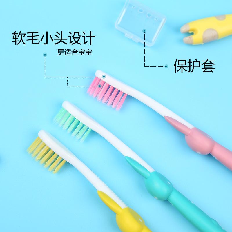 Bàn chải đánh răng nhà sản xuất để lấy mẫu tùy chỉnh trẻ em bàn chải tóc mềm dễ thương phim hoạt hình dễ thương mèo thỏ bàn chải đánh răng tóc mềm 4 bộ