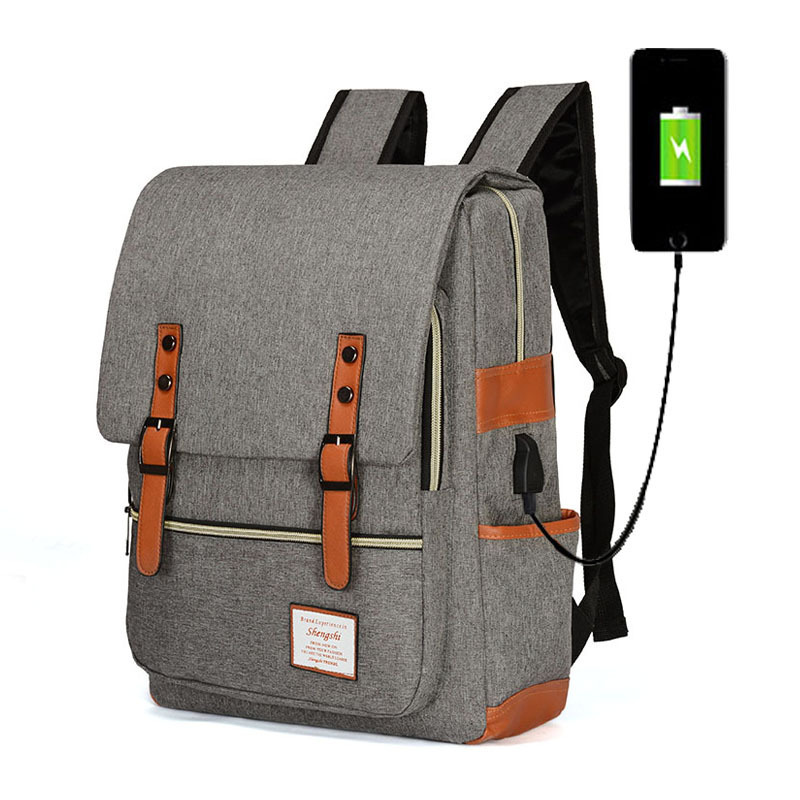 2019 New Style Usb Charging Shoulder Bag Anti-theft Backpack College Wind Bag Notebook Leisure Travel Computer Bag
