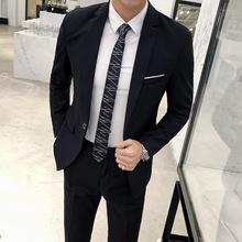 男士西服套装两件套青年韩版单西外套男休闲正装职业修身小西装潮