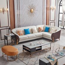 包邮后现代皮沙发小户型客厅家具港式贵妃转角沙发组合 轻奢沙发