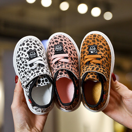 Children's shoes leopard children's shoes  spring new boys and girls fashion shoes trend Velcro baby soft shoes
