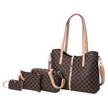 外貿女包2019新款時尚印花手提包托特包女四件套單肩大包定制bag