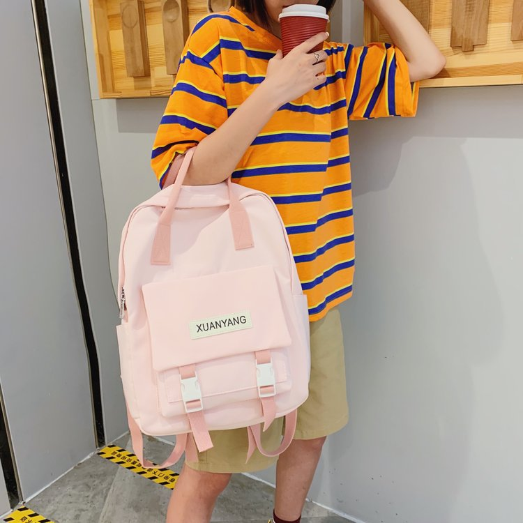 Small fresh girl solid color portable backpack NHHX158092