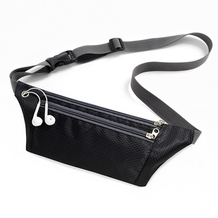 The new summer light and thin personal waist bag men and women earphone hole running waist bag large capacity sports and leisure mobile phone coin purse