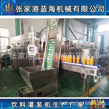 藍海定制飲料灌裝機 全套果汁三合一瓶裝灌裝機械 果汁灌裝生產線