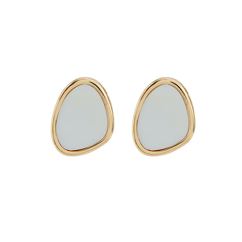 S925 silver new simple shell earrings women fashion trend advanced earrings NHQS194687