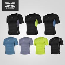 2020新款速修身男裝短袖寬松緊身健身跑步衣半袖體恤夏季運動t恤