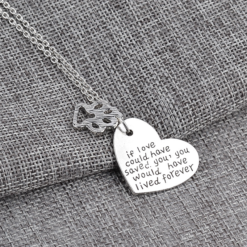 New fashion love carving English alphabet pendant necklace dog claw pendant necklace clavicle chain wholesale NHMO207919