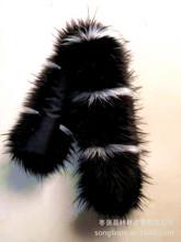 冬季仿皮草毛領子狐貍毛貉子毛帽條羽絨服大衣毛領子單買女士通用