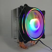 4熱管散熱器  塔式銅管cpu風扇  12公分發光風扇 Intel AMD多平臺