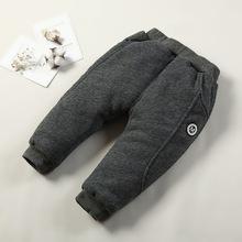 Đàn ông và phụ nữ quần bé cotton nhồi bông cho bé 1-3 tuổi Quần ba lớp dày ấm quần thể thao mùa đông quần trẻ em mặc Quần cotton