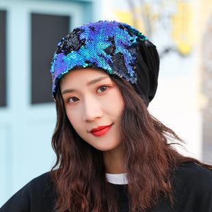 Sailor dance export sequin beret shining bright color sequin thin breathable two-color leisure painter cap