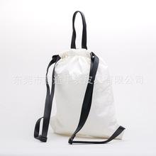 创意设计白色杜邦纸抽带束口袋 旅行运动超轻Tyvek双肩背包定制