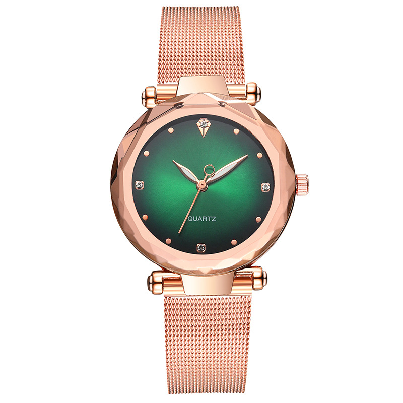 Fashion Multilateral Mirror Ladies Mesh Belt Watch Ladies Watch Set with Diamond British Watch Explosion Model Women's Watch NHSY199321