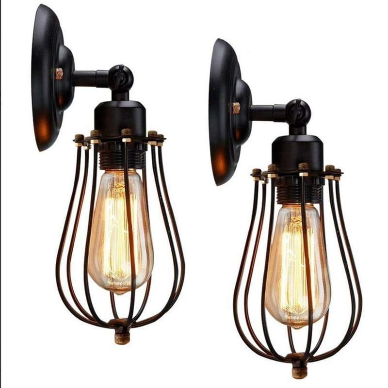 美式乡村工业风吸顶灯简约复古壁灯餐厅酒吧会所吸顶壁灯两用灯具