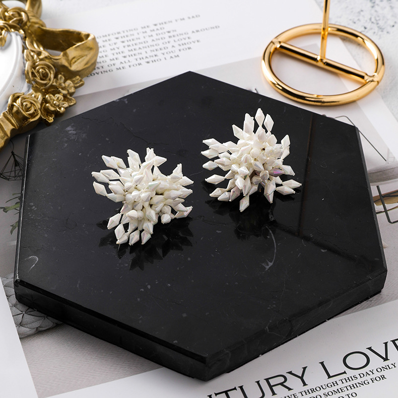 Temperament bursting sun flower earrings NHMS148927
