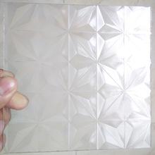 廠家供應塑料花紋板菱形大冰花PS花紋板PMMA花紋板三角金字塔紋