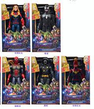 复仇者英雄联盟玩具可动人偶蜘蛛侠 绿巨人 钢铁侠 美国队长 雷神