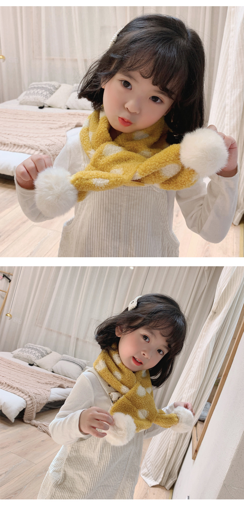Autumn and winter warm printed plush scarf NHTZ149741