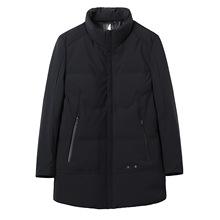 品牌剪标冬季男士纯色立领拉链门襟潮流分割拼接休闲羽绒服Y4C188