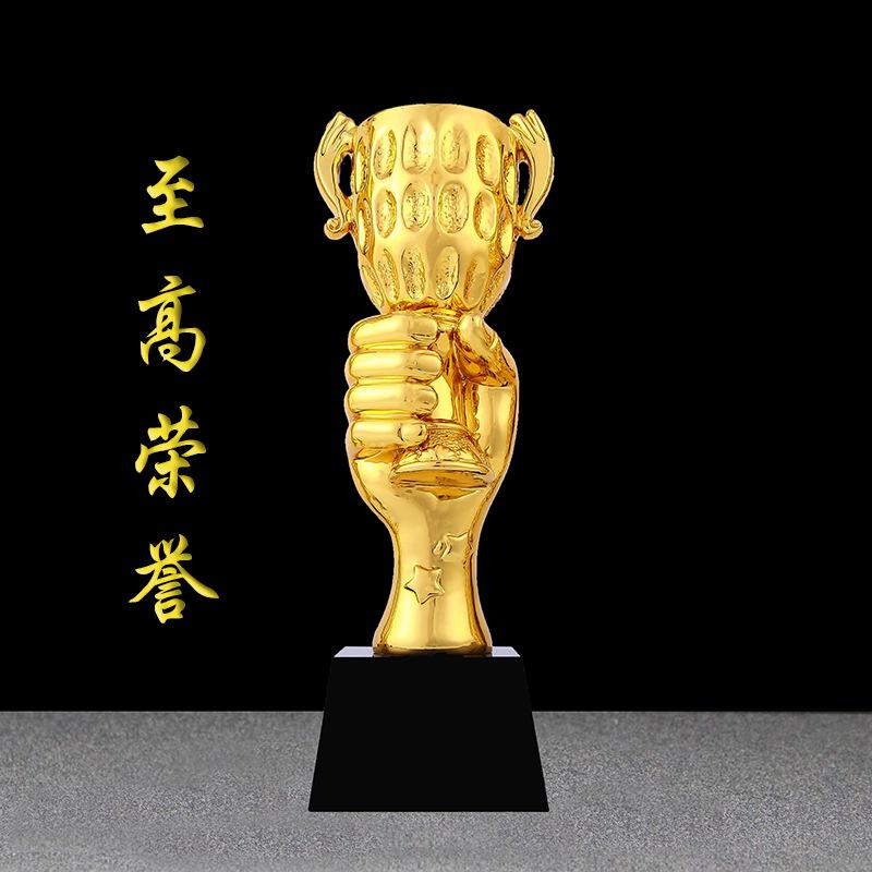 创意树脂奖杯至高荣誉定制 新款创意纪念品LOGO定做 批发商务礼品