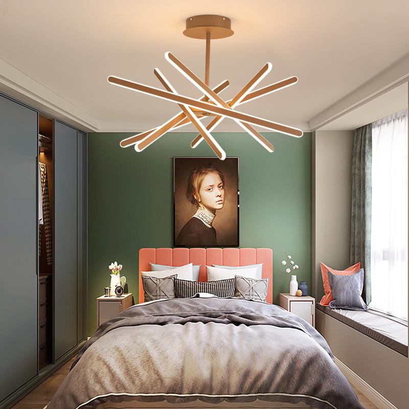 现代简约创意led异形吊灯 个性北欧艺术客厅吊灯可调节卧室餐厅灯