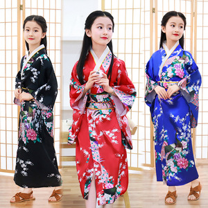 Chinese Dress Qipao for Children kimono Japanese bathrobe girl princess dress show dress lovely bow sweat clothing wholesale