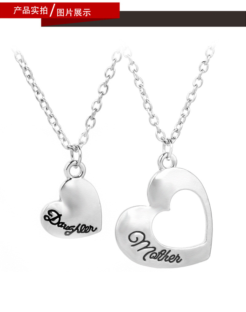 Hot Mother Daughter Mothers Day Hollow Love Pendant Necklace wholesale nihaojewelry NHCU232799