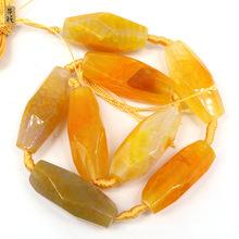 天然石粉玛瑙爆花米珠八角度石 DIY配件散珠 原石玛瑙片厂家直销