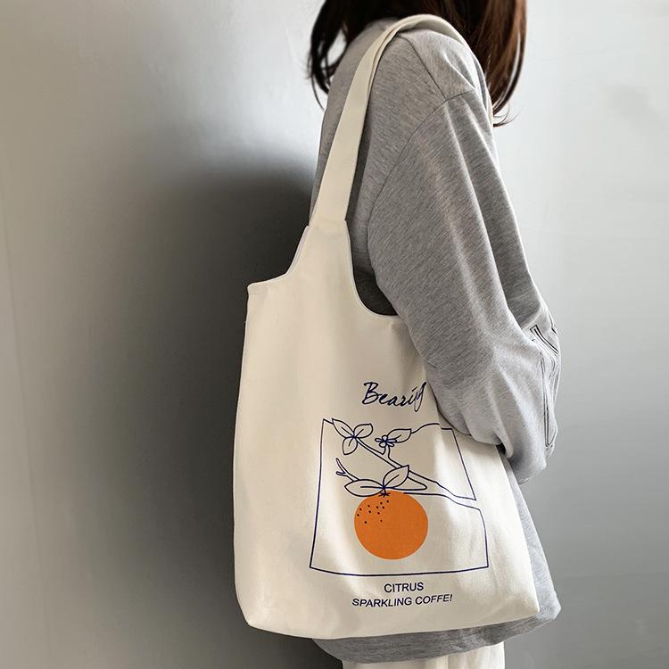 오렌지피치 캔버스백 2컬러